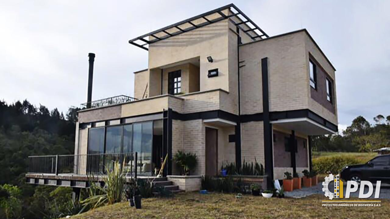 Casa estructura met lica pdi proyectos din micos de ingenier a s a s - Estructura metalica vivienda ...